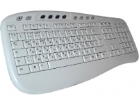 Keyboard - German-Russian, KU-0503, white, multimedia, USB