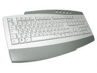 Keyboard - German-Russian, KB-0173, white, multimedia, PS/2