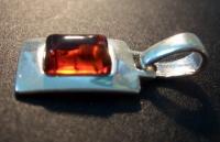 Amber Pendant for Bracelet