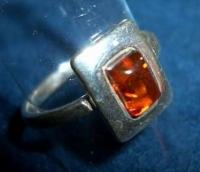 Amber Ring for Bracelet