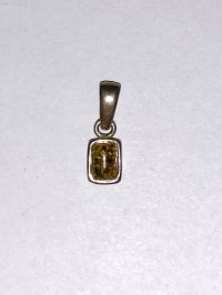 Подвеска с янтарем. Камень желто-зеленого цвета - Янтарь , Изделия из серебра