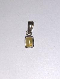 Подвеска с янтарем. Камень желтого цвета - Янтарь , Изделия из серебра