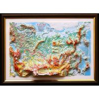 Russia. High raised relief panorama (3D map/Medium)
