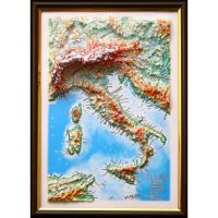 Italy. High raised relief panorama (3D map/Medium)