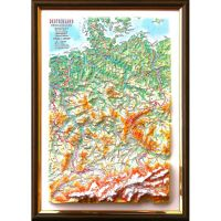 Germany. High raised relief panorama (3D map/Medium)