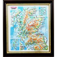 Maps Scotland. High raised relief panorama (3D map/Mini)