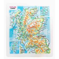 Maps Scotland. High raised relief panorama (Magnet/Mini)