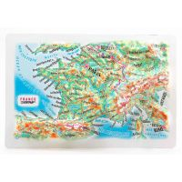 Maps France. High raised relief panorama (Magnet/Mini)