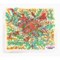Карты Париж. Высокообъемная панорама PARIS (Магнит/Mini)