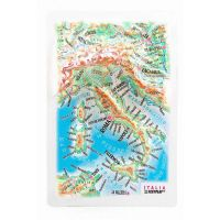 Maps Italy. High raised relief panorama (Magnet/Mini)