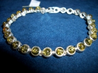 Bracelet for children - Amber , Silverware