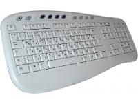 Клавиатура - немецко-русская, KU-0503, белая, мультимедийная, USB