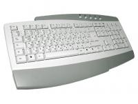 Клавиатура - немецко-русская, KB-0173, белая, мультимедийная, PS/2