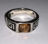 Кольцо. Янтарь. Цвет камня - натуральный - Янтарь , Изделия из серебра