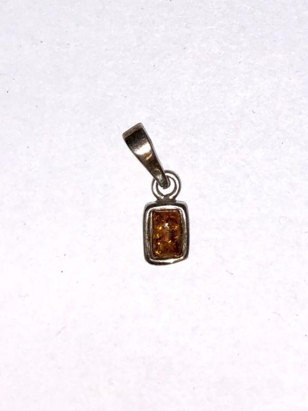 Серебро Подвеска с янтарем. Камень натурального цвета - Изделия из серебра