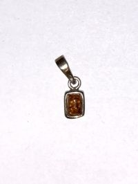 Подвеска с янтарем. Камень натурального цвета - Изделия из серебра