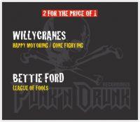 WILLYCRANES. Happy Motoring / Gone Fighting. BETTIE FORD. League Of Fools (3CD) - Willycranes , Bettie Ford