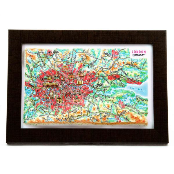Maps London. High raised relief panorama (3D map/Mini)