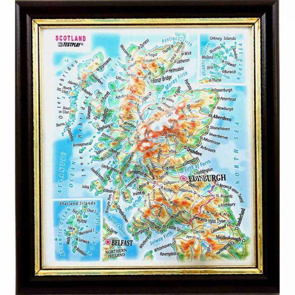 Landkarten Scotland. 3D Reliefpanorama, Landkarte (3D map/Mini)