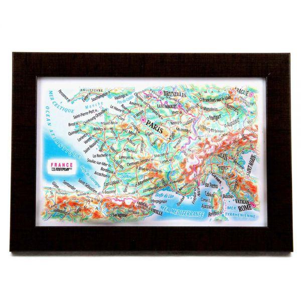 Landkarten France. 3D Reliefpanorama, Landkarte (3D map/Mini)