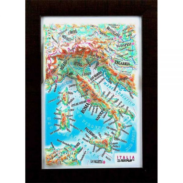 Maps Italy. High raised relief panorama (3D map/Mini)