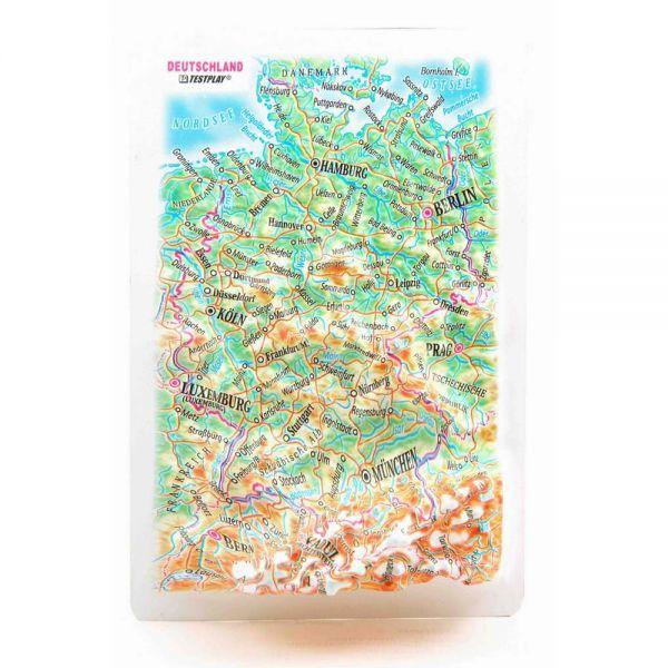Landkarten Germany. 3D Reliefpanorama, Landkarte (Magnet/Mini)