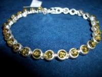Браслет для детей - Янтарь , Изделия из серебра